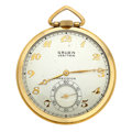 Timepieces:Pocket (post 1900), Gruen Veri-Thin Open Face Pocket Watch. ...