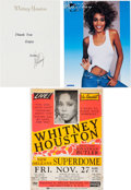 Movie/TV Memorabilia:Memorabilia, A Whitney Houston Group of Items, Circa 1980s.... (Total: 3 Items)