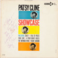 Music Memorabilia:Autographs and Signed Items, Patsy Cline Autographed Showcase Album Cover (Decca 4202,1961).... (Total: 2 Items)