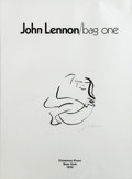 "Music Memorabilia:Original Art, Beatles - John Lennon Lithograph From The Bag One Series,""Hug""...."