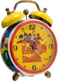Music Memorabilia:Memorabilia, Beatles Yellow Submarine Alarm Clock by Sheffield (UK,1968)....