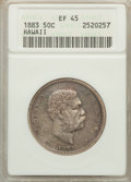 Coins of Hawaii: , 1883 50C Hawaii Half Dollar XF45 ANACS. NGC Census: (52/340). PCGS Population (89/456). Mintage: 700,000. ...