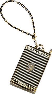 Art Deco Diamond, Black Onyx, Enamel, Gold Nécessaire, Cartier, New York