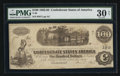 "Confederate Notes:1862 Issues, Manuscript Endorsement ""N.P. Carriker"" T40 $100 1862 PF-20 Cr.308.. ..."