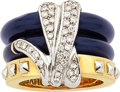 Estate Jewelry:Rings, Diamond, Enamel, Gold Ring, La Nouvelle Bague. ...