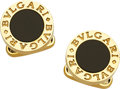 Estate Jewelry:Cufflinks, Black Onyx, Gold Cuff Links, Bvlgari. ...