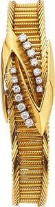 Estate Jewelry:Watches, Gübelin Lady's Diamond, Gold Wristwatch. ...