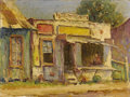 Texas:Early Texas Art - Impressionists, ROLLA TAYLOR (1871-1970). Little Store. Oil on canvasboard.9in. x 12in.. Signed and titled verso. A loose and colorfu...
