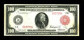 """Large Size:Federal Reserve Notes, Fr. 1078b $100 1914 Red Seal Federal Reserve Note Very Fine-Extremely Fine. Though the """"b"""" variety of the Chicago Red Seals ..."""