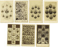 Photography:CDVs, Seven Multi-Views of Generals Cartes de Visite. Consisting of three Union examples and four Confederate, this lot featur... (Total: 7 )