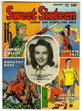Golden Age (1938-1955):Non-Fiction, Sweet Sixteen #3 Mile High pedigree (Parents' Magazine Institute,1947) Condition: NM+. Cornel Wilde feature. Partial photo ...