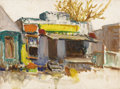Texas:Early Texas Art - Impressionists, ROLLA TAYLOR (1871-1970). The Alamo. Oil on canvasboard.12in. x 16in.. Signed lower left. Signed and titled verso. Th...