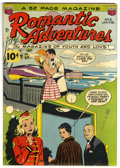 Golden Age (1938-1955):Romance, Romantic Adventures #6 Mile High pedigree (ACG, 1950) Condition:FN. We hadn't seen this issue before today, and CGC hasn't ...