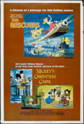 "Movie Posters:Animated, The Rescuers/Mickey's Christmas Carol Combo (Buena Vista, 1983).Poster (40"" X 60""). Animated Adventure. Starring the voices..."