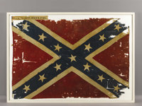 "The Confederate Battle Flag of the 31st Tennessee Volunteers, ""The Western Stars"". A Confederate battle flag t..."
