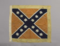 "Military & Patriotic:Civil War, The Confederate Battle Flag of the 4th Tennessee Infantry: The Famous Beauregard Design. This ""artillery""-sized Confederate ..."