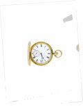 Estate Jewelry:Other , Swiss Gold Hunting Case Pocket Watch, Circa 1919. Case: 48 mm, 18k yellow gold, single hinged, coin edge, engine turned.. ...