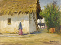 Texas:Early Texas Art - Impressionists, ROLLA TAYLOR (1871-1970). A Bit of Mexico. Oil oncanvasboard. 12in. x 16in.. Signed lower right. Signed and titledvers...