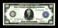 Large Size:Federal Reserve Notes, Fr. 920 $10 1914 Federal Reserve Note Extremely Fine-About New. This Richmond $10 was folded into thirds early in its life l...