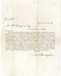 """Military & Patriotic:Civil War, Clement Vallandigham Pre-Printed Letter Signed, """"C.S. Vallandigham"""", one page, 8"""" x 10"""", Dayton, Ohio, May 7, 1861, to A..."""