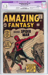 Amazing Fantasy #15 Married Pages (Marvel, 1962) CGC Apparent FR/GD 1.5 Moderate/Extensive (C-4) Cream to off-white page...
