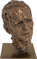Movie/TV Memorabilia:Original Art, A Frank Sinatra Patinated Bronze Bust by Robert Berks, 1976....