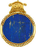 Estate Jewelry:Pendants and Lockets, Lapis Lazuli, Gold Enhancer-Pendant, Nerso. ...