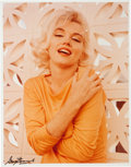 Movie/TV Memorabilia:Photos, A Marilyn Monroe Color Photograph Signed by George Barris,1990s....