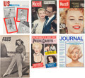 Movie/TV Memorabilia:Documents, A Marilyn Monroe Group of Magazines, 1940s-1970s.... (Total: 6Items)