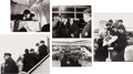 Music Memorabilia:Photos, Beatles Group of Airport Related Photographs, 1964... (Total: 5Items)