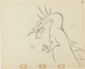 Animation Art:Production Drawing, Sleeping Beauty Maleficent as Dragon Production Drawing Animation Art (Walt Disney, 1959)....
