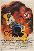 """Movie Posters:Adventure, Raiders of the Lost Ark (Paramount, 1983). Polish One Sheet (26"""" X38.25""""). Adventure.. ..."""