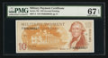Military Payment Certificates:Series 701, Series 701 $10 PMG Superb Gem Unc 67 EPQ.. ...