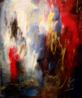 "Autographs:Bats, Tatyana Uspenskaya-Murphy . ""Chaos"". 24x30. acrylic on canvas..."