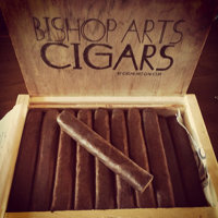 Box of hand-rolled artisan cigars
