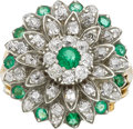 Estate Jewelry:Rings, Emerald, Diamond, Gold, Silver Ring. ...