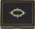 Estate Jewelry:Boxes, Art Deco Diamond, Emerald, Ruby, Enamel, Gold Compact. ...