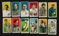 Baseball Cards:Lots, 1909-11 T206 White Border Tobacco Card Collection (12) - With HoFer& Scarcer Backs. ...