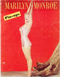 Movie/TV Memorabilia:Documents, A 'Marilyn Monroe Pin-Ups' Rare Magazine, 1953....