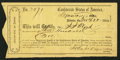 Confederate Notes:Group Lots, Interim Depository Receipt Atlanta, GA- $300 Mar. 22, 1864 TremmelGA-20. . ...