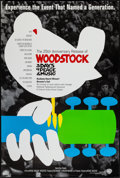 "Movie Posters:Rock and Roll, Woodstock (Warner Brothers, R-1994). 25th Anniversary One Sheet(27"" X 40.25"") SS. Rock and Roll.. ..."