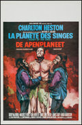 "Movie Posters:Science Fiction, Planet of the Apes (20th Century Fox, 1968). Belgian (14"" X 21.25"")& Uncut Pressbook (4 Pages, 8.25"" X 13.75""). Science Fic...(Total: 2 Items)"