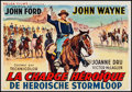 "Movie Posters:Western, She Wore a Yellow Ribbon (Belga Films, 1950s). Trimmed Belgian (12.75"" X 18.5""). Western.. ..."