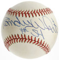 Autographs:Baseballs, Randy White Single Signed Baseball. Randy White, the second pick inthe 1975 NFL Draft, excelled at defensive end in 14 yea...