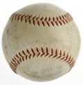 Autographs:Baseballs, Baseball Stars of the 1950s Multi-Signed Baseball. Vintage ONL(Giles) baseball has been signed by 19 stars from the 1950s....
