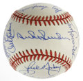 Autographs:Baseballs, Los Angeles Dodgers Multi-Signed Adult Fantasy Camp Baseball Signedby 15. Twice a year, the Los Angeles Dodgers host a fan...