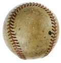 Autographs:Baseballs, Late 1930s Multi-Signed Baseball with DiMaggio and Gehrig. This lacquered vintage baseball contains several signatures, how...