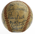 Autographs:Baseballs, 1957 Philadelphia Phillies Team Signed Baseball. Twenty-six blueink signatures from members of the 1957 Philadelphia Phill...