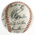 Autographs:Baseballs, 1972 Pittsburgh Pirates Team Signed Baseball. All twenty-onesignatures that appear on this ONL (Feeney) baseball have been...