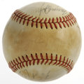 Autographs:Baseballs, Circa 1978 New York Yankees Team-Signed Baseball. Nine members from the late 1980s New York Yankees squads have checked in ...